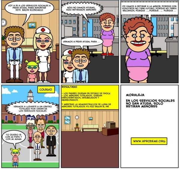 No es una tira cómica, es la experiencia de muchas familias...